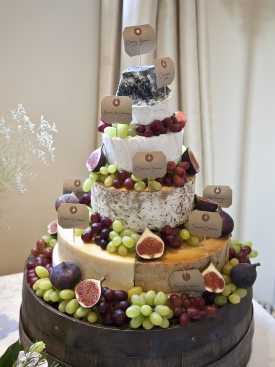 Wedding cakes made with Whole Cheese